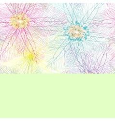 Seamless abstract flower texture vector