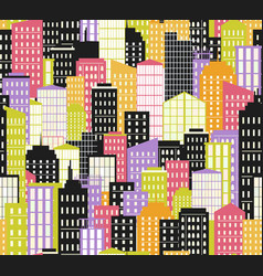 seamless urban landscape city background bright vector image