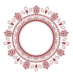 Simple elegant oriental style floral mandala vector