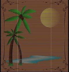 Straw mat summer landscape vector