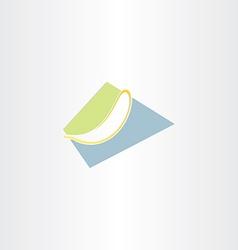 Stylized banana icon design vector