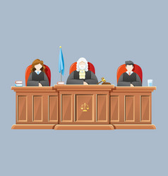 Supreme court with judges vector