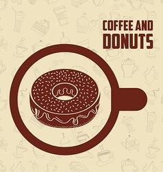 Sweet donuts design vector