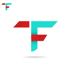 T and f letter icon vector
