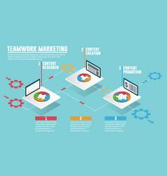 teamwork web marketing people groups planning vector image