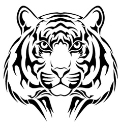 Tiger tribal tattoo vector image