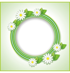 Vintage background with spring or summer flower vector image