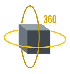Virtual cube icon isolated vector