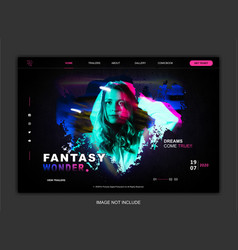web template design vector image