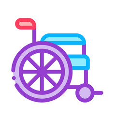 wheelchair equipment icon outline vector image
