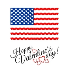 American Flag of Love isolated on white background vector image vector image