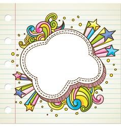 bubble doodle vector image vector image