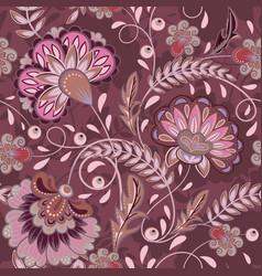 floral pattern flourish tiled oriental ethnic vector image