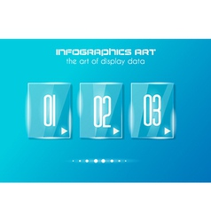 Infographic design template with glass surfaces vector image