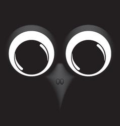Bird on black background vector image