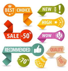 Collect Shopping Signs vector image vector image