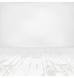 Empty white room with wooden floor vector image