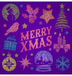 Hand drawn Christmas greeting vector image vector image