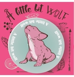 little bulldog howling vector image
