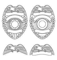 Police department badges and design elements vector image