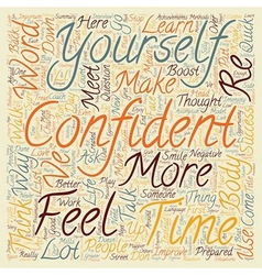 Quick ways to greater confidence text background vector