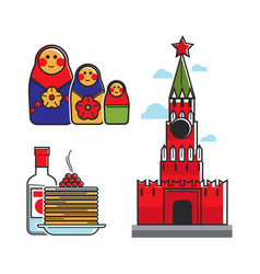 russia soviet union symbols for ussr russian vector image vector image
