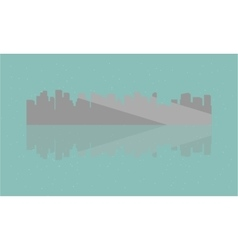 Silhouette of building and reflection vector image vector image