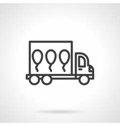 Balloons delivery black line design icon vector image