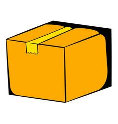 Cardboard box icon cartoon vector