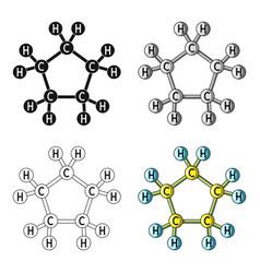 chemical oil formulaoil single icon in cartoon vector image
