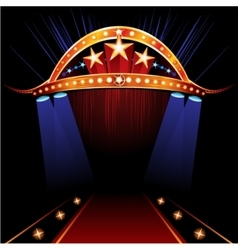 Famous Red Carpet vector image vector image