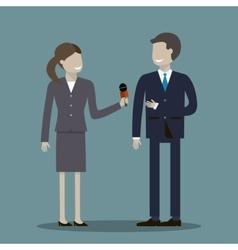 Female Journalist Interviewing Businessman vector image