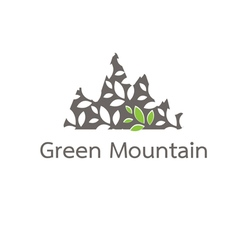 mountain of leaves vector image
