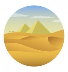 pyramids in desert vector image vector image