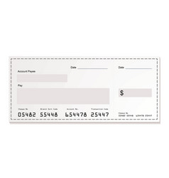 white dollar cheque vector image