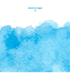 blue watercolor background vector image vector image