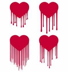 heart drips vector image vector image
