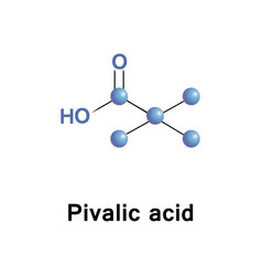 Pivalic acid is a carboxylic acid vector