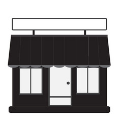 store front shop and market vector image vector image