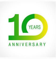 10 anniversary classic logo vector