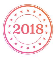 2018 gradient circle seal badge with star border vector image