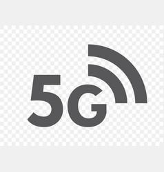 5g network technology icon fifth generation vector image