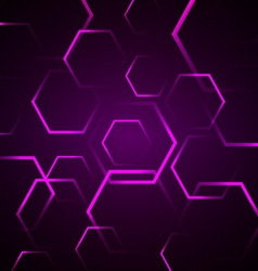 Abstract background with violet hexagon vector image