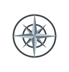 Ancient compass icon flat style vector