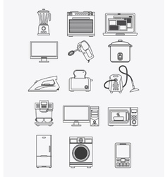 Appliances and supplies for home vector image