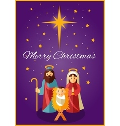bajesus with mary and joseph vector image