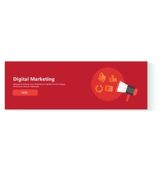 banner digital marketing vector image