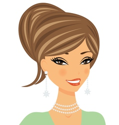 Beautiful woman portrait vector image
