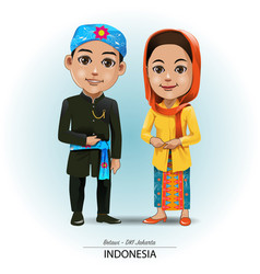 Betawi traditional cloth vector