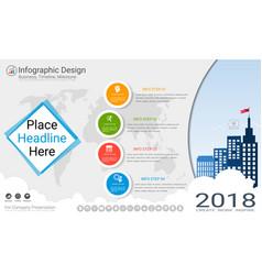 business infographics template milestone timeline vector image